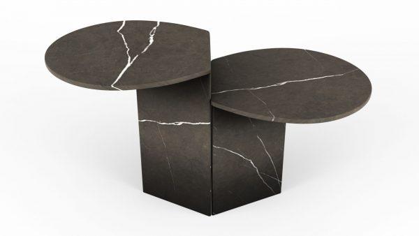 Tables gigognes en marbre pietra grey
