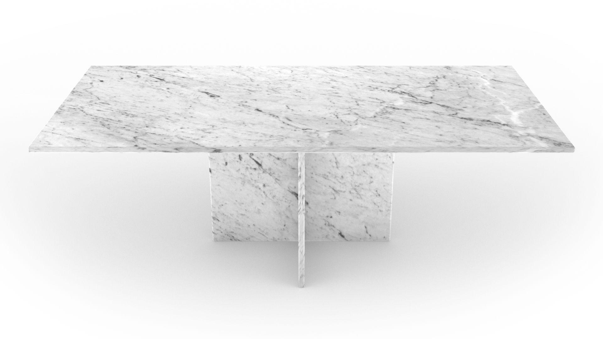 Mobiliers inspirants en pierre naturelle, table basse en marbre blanc