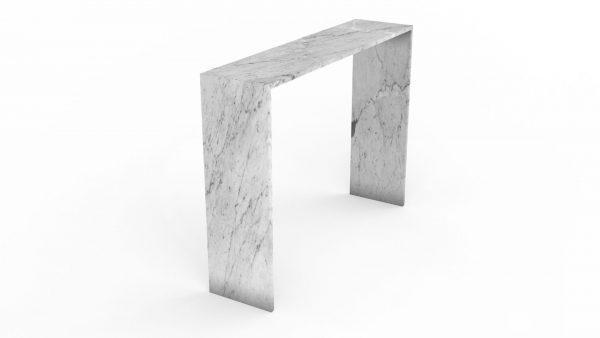 Console en marbre blanc carrare