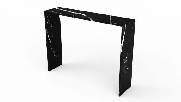 Console en marbre noir marquina