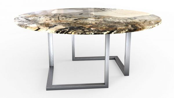 Table à manger ronde en quartzite patagonia