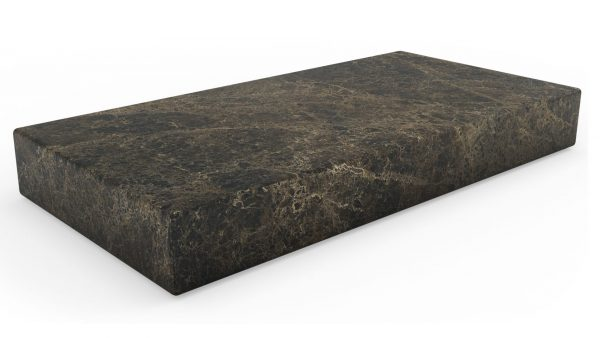 Table basse rectangulaire en marbre emperador