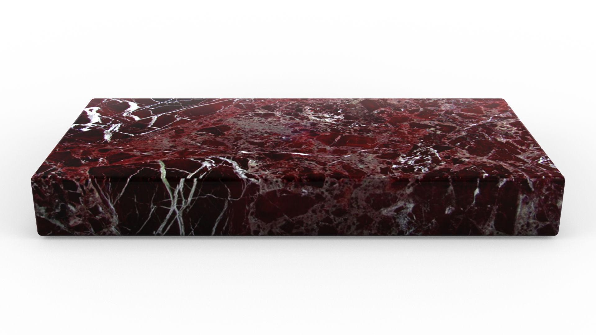 Le retour du mobilier en marbre avec une table basse en marbre rosso Lepanto