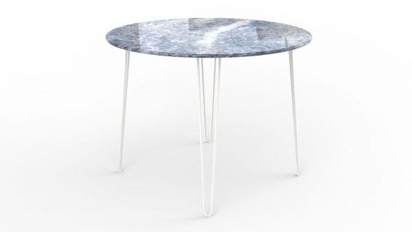 Table à manger ronde en marbre calcite azul