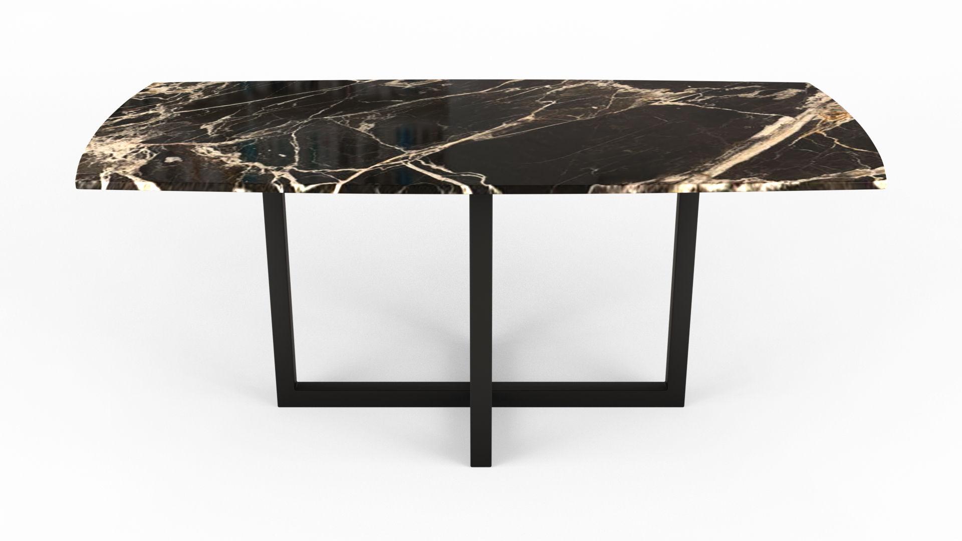 Mobiliers inspirants en pierre naturelle table à manger en marbre noir
