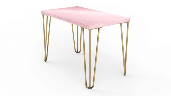 Table basse rectangulaire en onyx rose