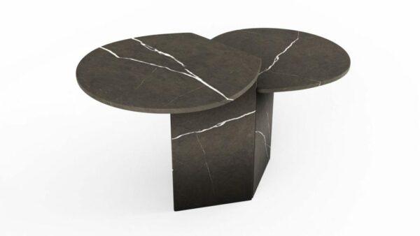 Tables gigognes en marbre pietra grigio