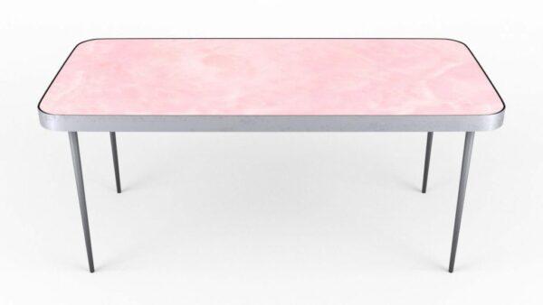 Table basse rétro-éclairée en onyx rose
