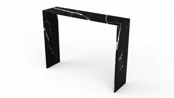 Console en marbre nero marquina