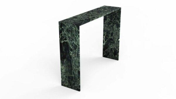 Console en marbre vert alpi
