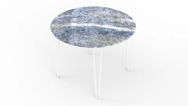 Table à manger ronde en marbre calcite azul