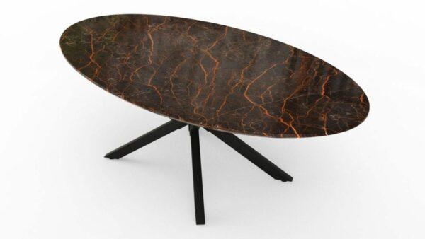 Table à manger de forme ovale en marbre port laurent extra