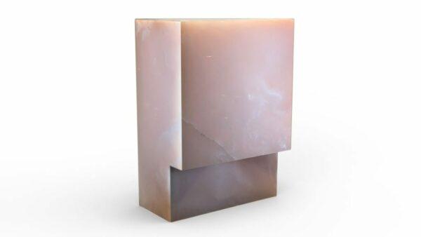 Lampe en onyx rose