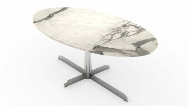 Table à manger ovale en marbre calacatta venato