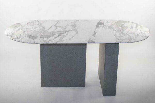 Réalisation table à manger oblongue en marbre