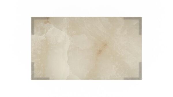 plateau rectangulaire onyx blanc