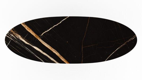 plateau en forme de planche de surf marbre noir