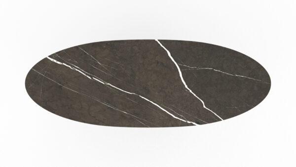plateau en forme de planche de surf marbre gris