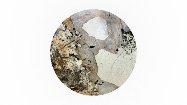 plateau rond quartzite beige