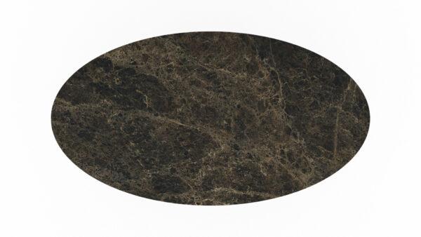 plateau de forme ovale marbre marron