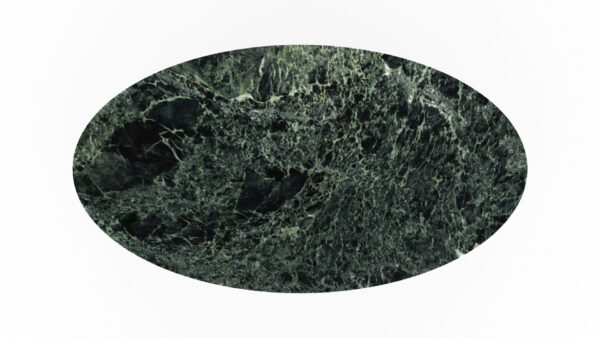 plateau de forme ovale marbre vert