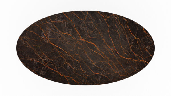 plateau forme ovale marbre marron