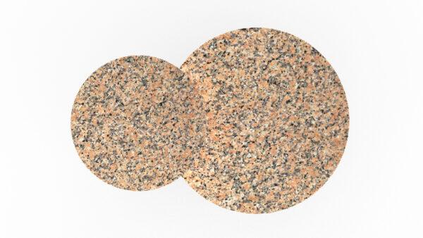 plateaux ronds marbre rose