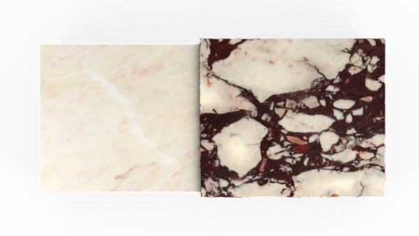 plateau rectangulaire marbre blanc et violet