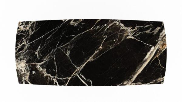 plateau forme biscuit marbre noir