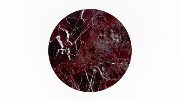 plateau rond marbre rouge
