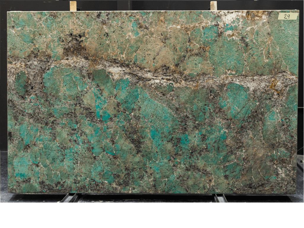 Tranche de granit Amazzonite